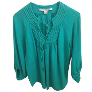 DVF Turquoise Blouse