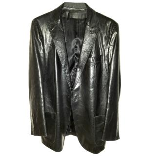Costume National Men's Leather Jacket