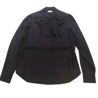 Moschino black silk shirt