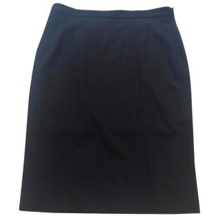 Piazza Sempione black fitted skirt