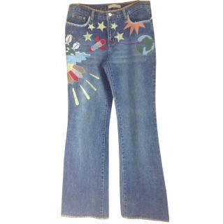 See by Chloe embroidered jeans
