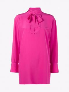 Valentino High Neck Silk Blouse