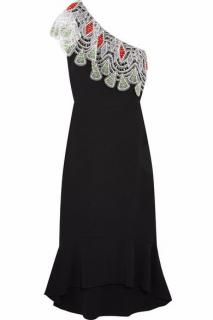 Peter Pilotto One-Shoulder Crochet Lace Detail Dress