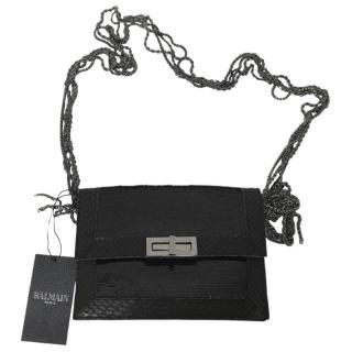 Balmain Aventura Sequin Small Handbag