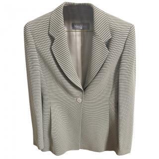 Max Mara striped viscose blazer