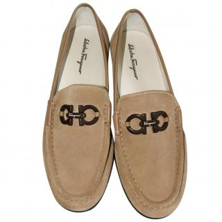 SALVATORE FERRAGAMO suede loafers, size US 6 (UK 3.5)