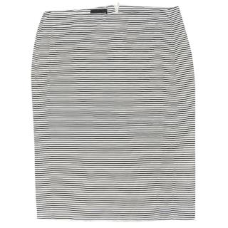 Emporio Armani Cotton Striped Skirt Made in Italy size IT 44
