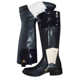 NEW ARMANI JUNIOR tall leather boots