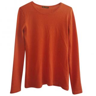 Loro Piana Orange Cashmere Sweater
