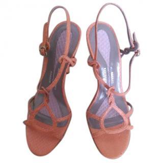 Anya Hindmarch Coral Python Sandals