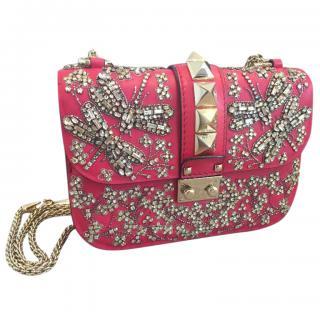 Valentino Rockstud 'Glam Rock' Small Crystal Embellished Bag