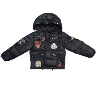 Monler Black Padded Jacket With Patches