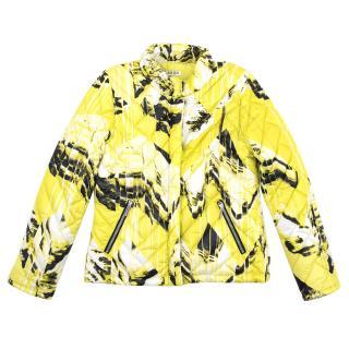 Kenzo Yellow Print Puffer Jacket