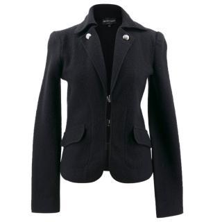 Emporio Armani Black Wool Blazer