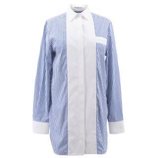 Balenciaga Banker Striped Poplin Shirt