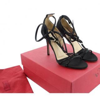 Valentino Black Ankle Strap Sandals