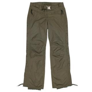 Jet Set Olive Green Starred Print Snow Pants