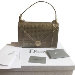 Dior Diorama in Champagne Metallic Calfskin