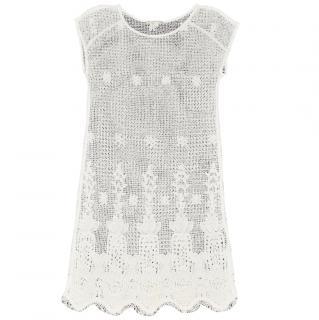 Maje White Lace Flora Dress