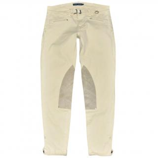 Ralph Lauren Cotton Beige Jodhpur Pants