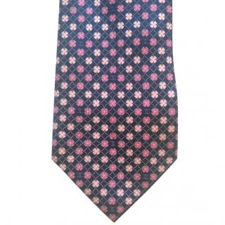 Chanel Blue and Pink Floral Tie with Chanel Logo RRP �140.