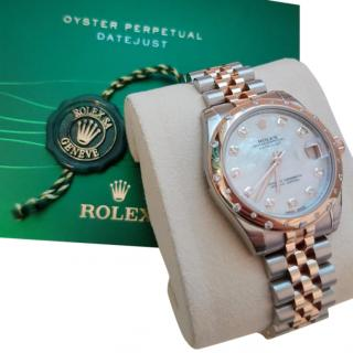 Rolex Oyster Gold and Diamond Perpetual Datejust 31