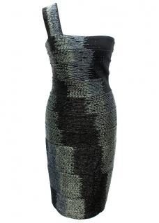 Herve Leger Black Beaded Bandage Dress