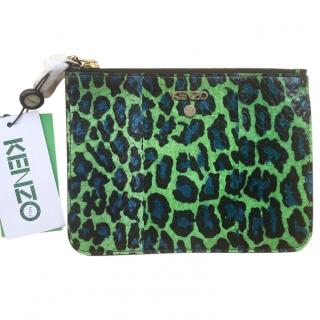 Kenzo printed leather pouch