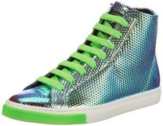 Unisex P1 sneakers in green hologram