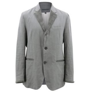 John Varvatos Men's Linen and Suede Blazer