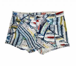 Rag & Bone Print Denim Shorts