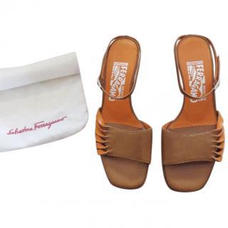 Salvatore Ferragamo two-tone kitten heeled sandals