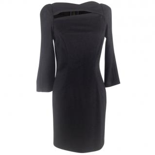 Diane Von Furstenberg Black Cut-out Dress