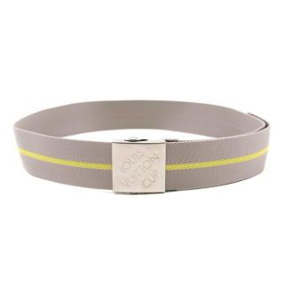 Louis Vuitton Grey and Yellow Roller Belt