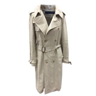Ralph Lauren Natural Linen Trench Coat