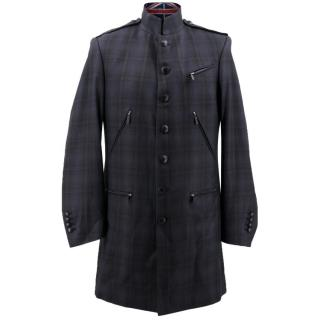 Karl Lagerlfeld Plaid Coat