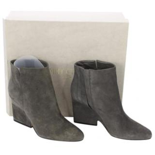 Jimmy Choo Myth Grey Suede Ankle Boots