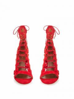 Aquazzura Red Amazon Leather Heels