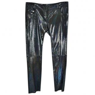 Balmain Iridescent Sequined Trousers