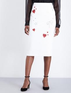 Vivetta embroidered midi skirt