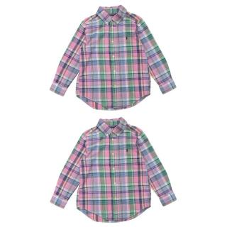 Ralph Lauren Kid's 2 Pink Plaid Shirts