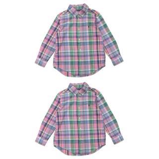 Ralph Lauren Kid's 2 Pink Plaid Shirts