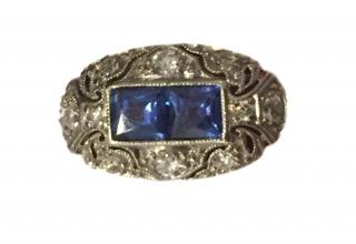 Vintage Platinum Art Deco Ring