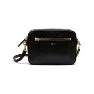 Mulberry camera bag black goatskin