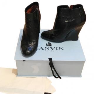 Lanvin Patent Leather Boots