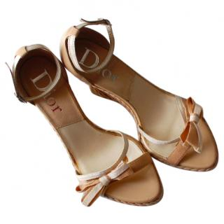 Dior Bow Sandals
