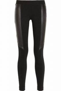 DKNY Leather Panel Leggings
