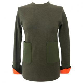 Toga green woollen top