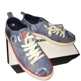Dsquared basquette denim trainers