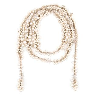 Chanel Pearl Wrap Necklace